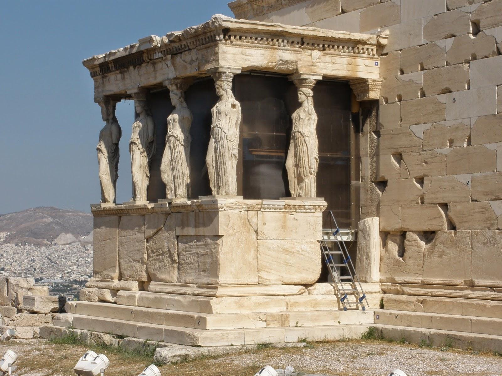 Las Cariátides, fachada del Erecteión.