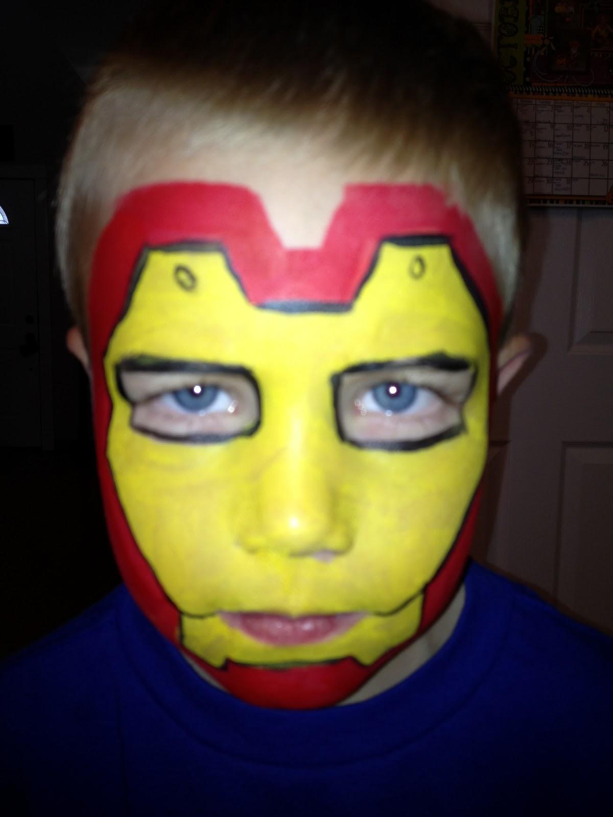 Iron Man Face Paint Face painting by jennifer van