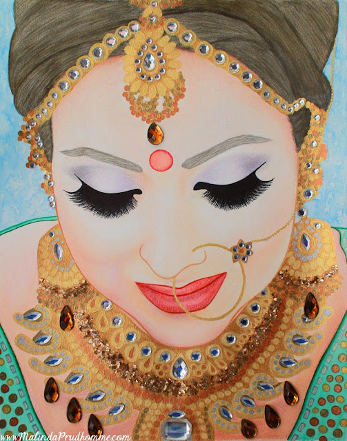 seva food bank. seva spark 2015, food bank, donated art, donation, artist donates, sikh bride, indian bride, bride, indian, sikh, charity, malinda prudhomme, portrait, beauty, portrait artist, mississauga, toronto, toronto artist, toronto portrait artist