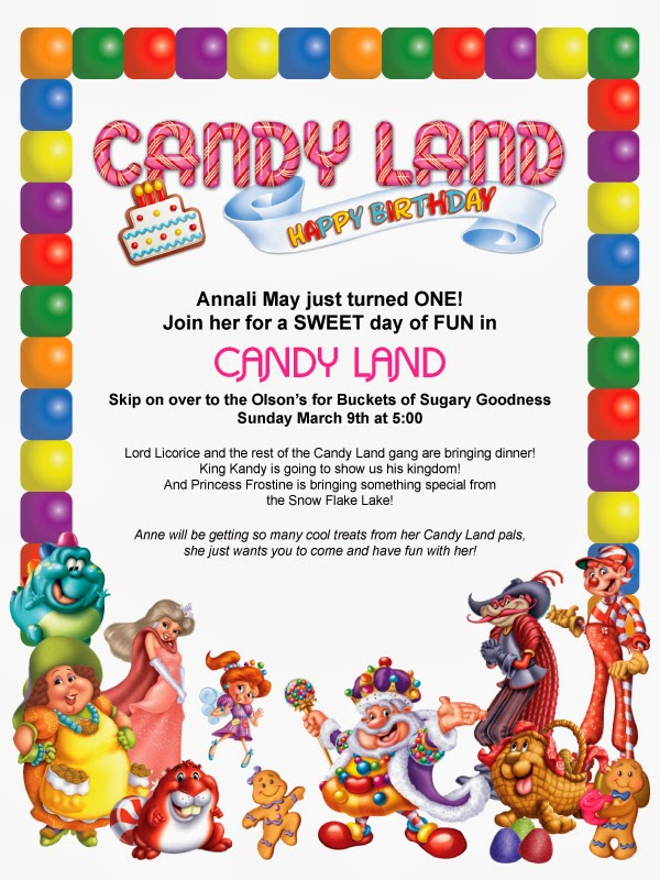 Toadly Good Candy Land Birthday