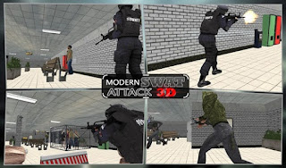 Screenshots of the Counter Swat Strike Team 3D for Android tablet, phone.