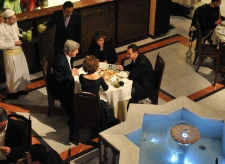 The Kerrys and the Assads dine together in 2009