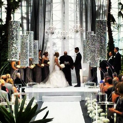 The Final Modern Wedding Ceremony Took Place At Crystal Gardens Navy Pier Jesse From Event Creative This One Over Top And With Stefani S
