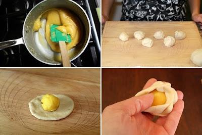 Cách làm bánh bao kim sa nhân trứng sữa 3