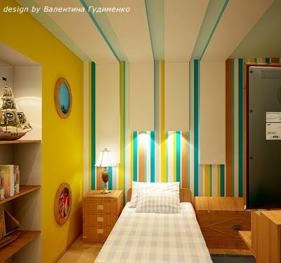 Decoraci n de interiores decoraci n de paredes en cuartos - Paredes para ninos ...