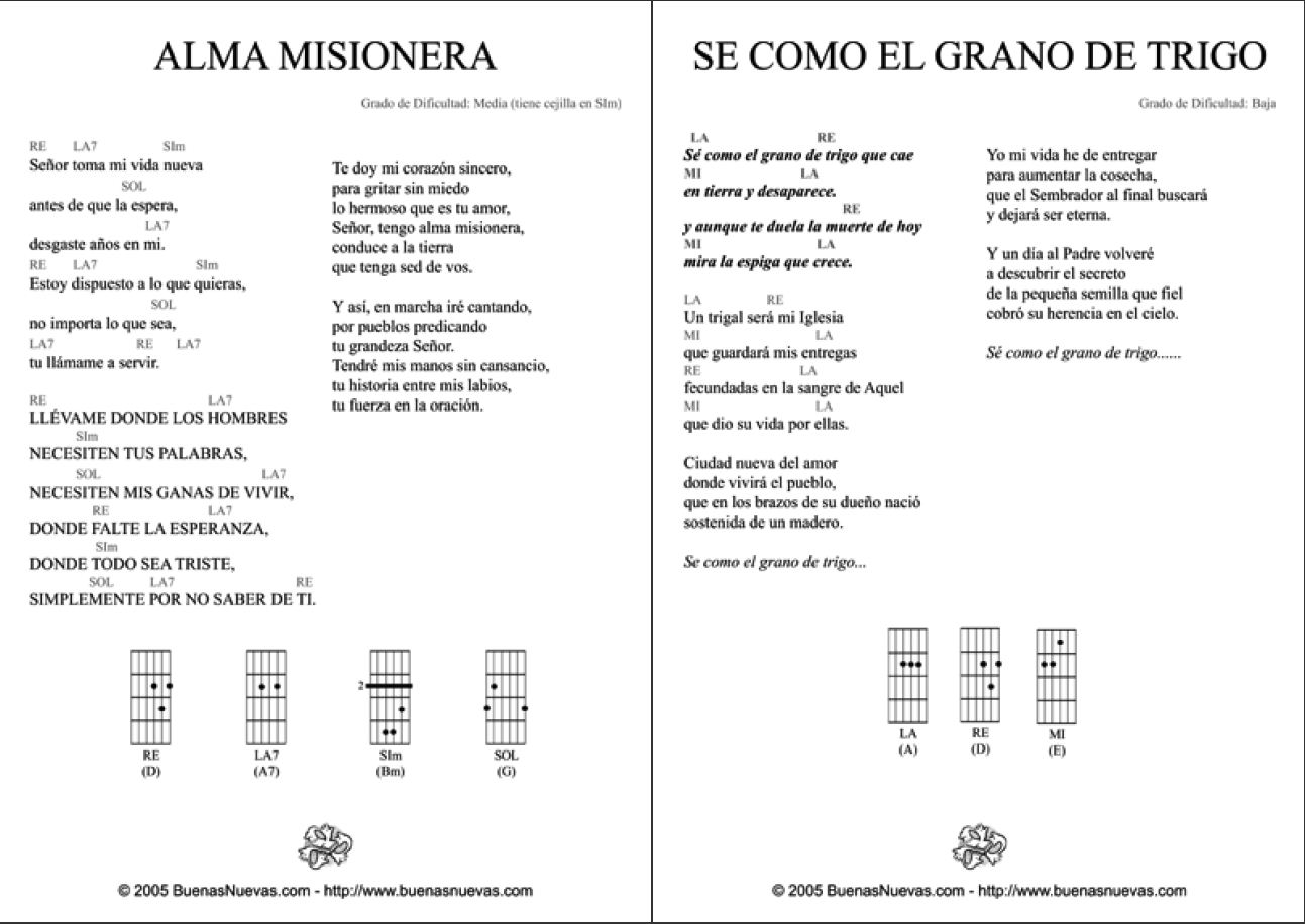 musica catolica letras: