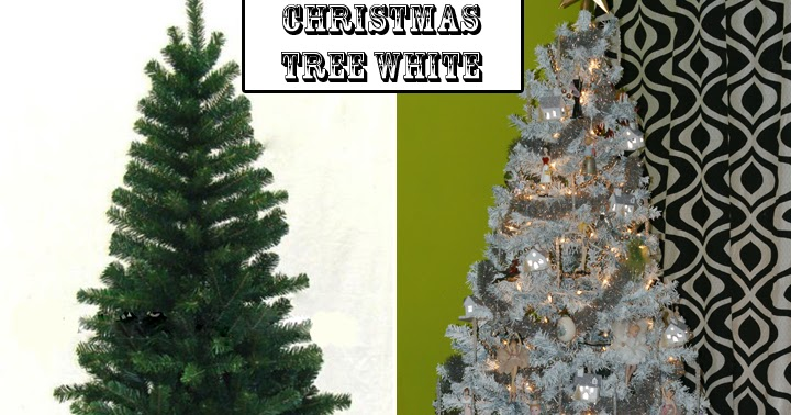 quirky artist loft how to paint a christmas tree from green to white. Black Bedroom Furniture Sets. Home Design Ideas