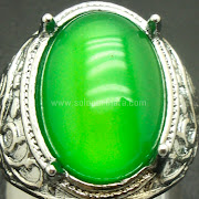 Cincin Batu Permata Green Melon Calchedony - SP763