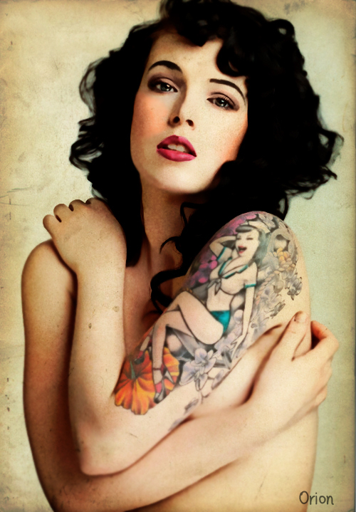 50s Pin Up Lady Tattoos