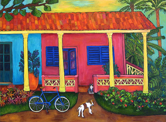 House in Vinales by Judy Feldman