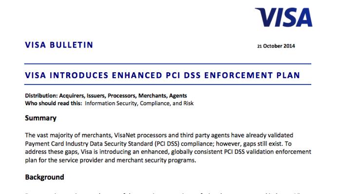Visa pci enforcement rules in 2015 platinumwayz