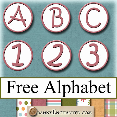 Free Rose Pink Circle Digital Scrapbook PNG Alphabet 49 GE