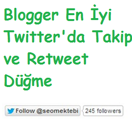Blogger Twitter Takip ve Retweet Düğme