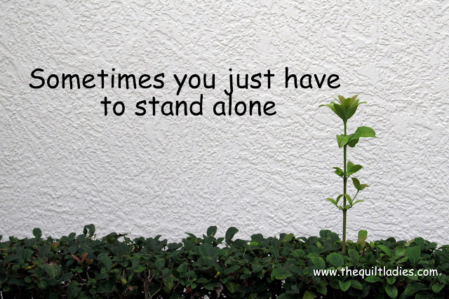 Sometimes you just have to stand alone sign