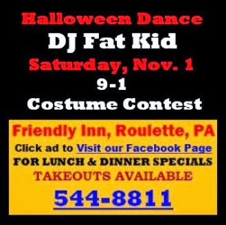 11-1 Halloween Dance--Friendly Inn-Roulette