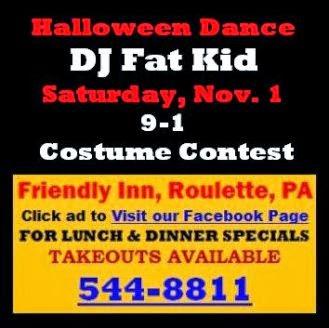 11-1 Halloween Dance--Friendly Inn-Roulette