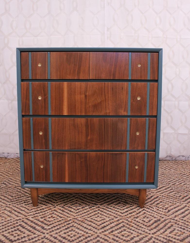 Blue Lamb Furnishings Mid Century Modern Chest Dresser