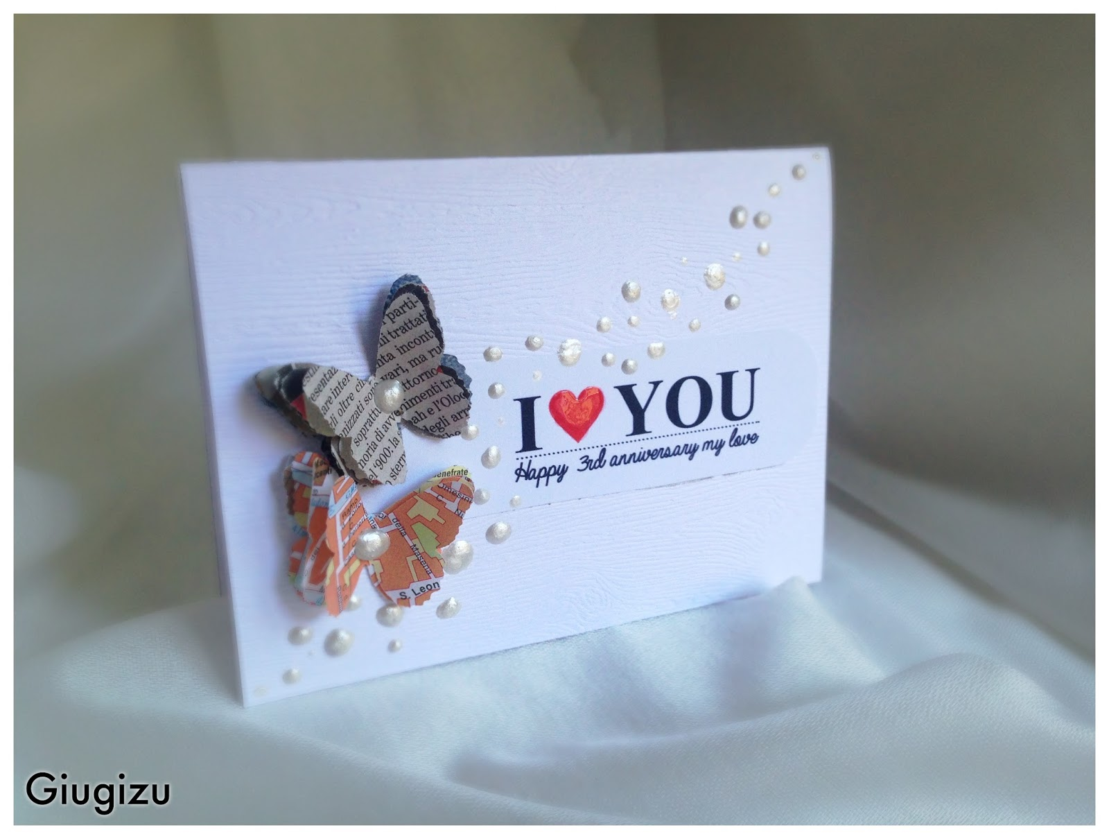 Connu Giugizu's corner: Handmade wedding anniversary card - Biglietto  GD21