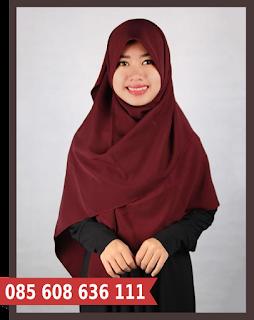 jilbab segi empat 130cm