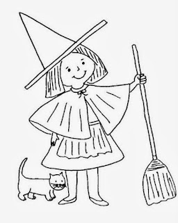 Halloween Witches for Coloring, part 1