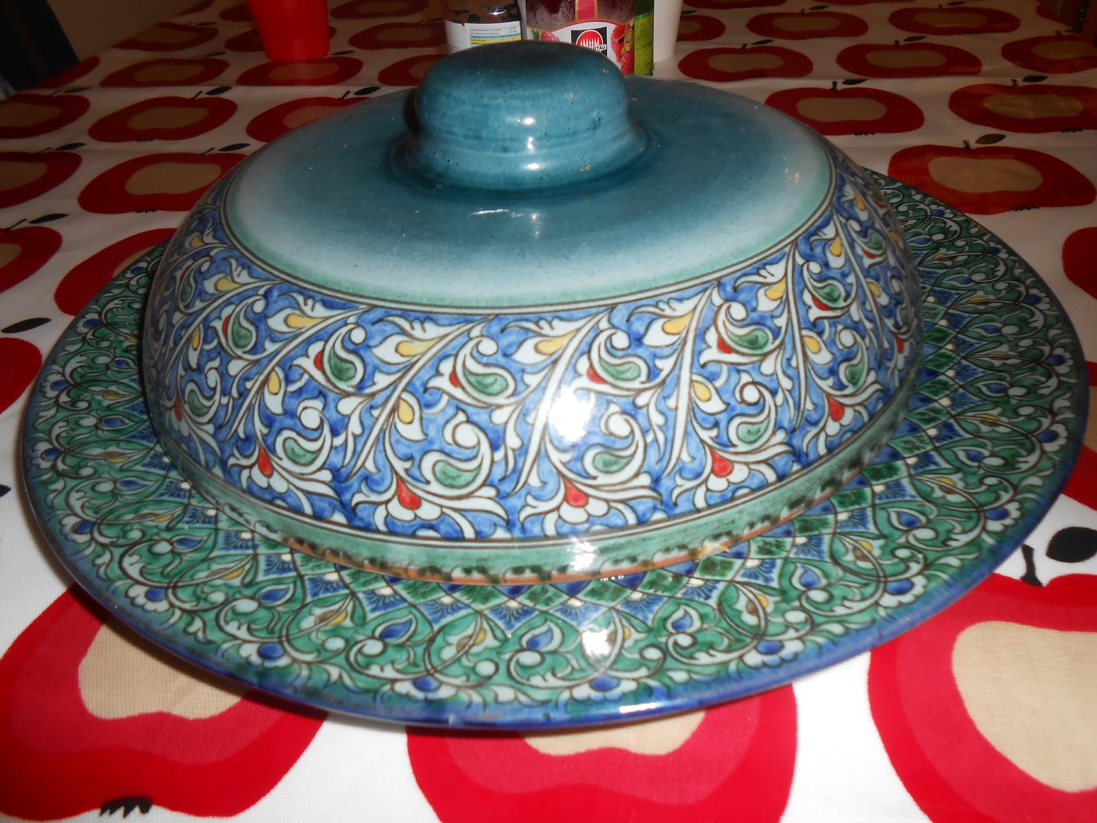 Uzbek Pottery Serving Dish