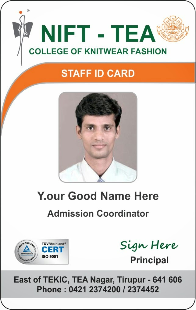 Id card coimbatore ph 97905 47171 college student for Teacher id card template