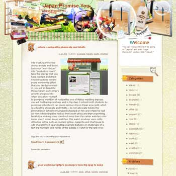 Japan Promise You Blogger Template. beautiful background template blogger