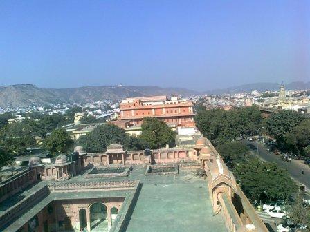 jaipur city view from hawa mahal