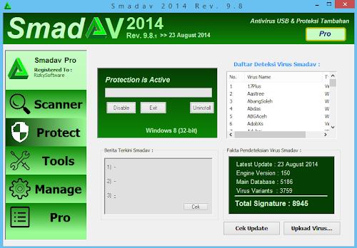 SmadAV Pro 2014 Rev. 9.8.1