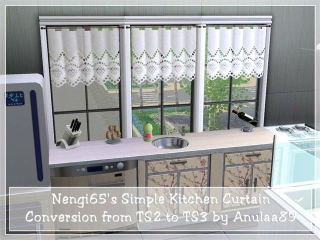 Simple Kitchen Blog my sims 3 blog: nengi65's ts2 simple kitchen curtain converted