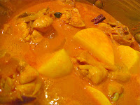 chicken curry, potatoes, curry, Malaysian food