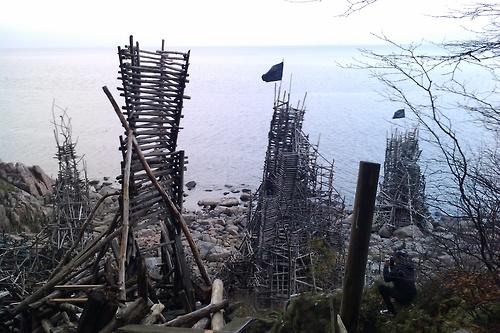 Image result for lars vilks wooden artwork sculpture