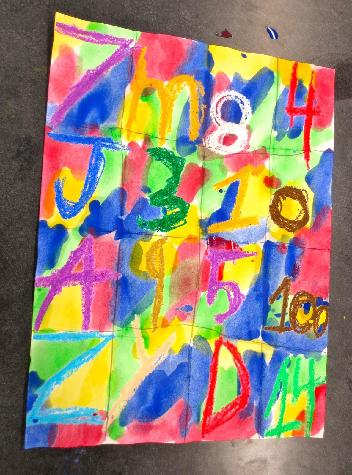 zilker elementary art class kinder jasper johns paintings