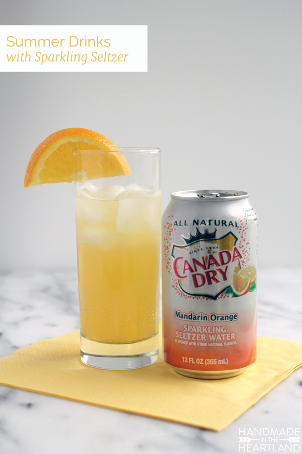 Summer Drinks with Sparkling Seltzer Water #wateronlybetter