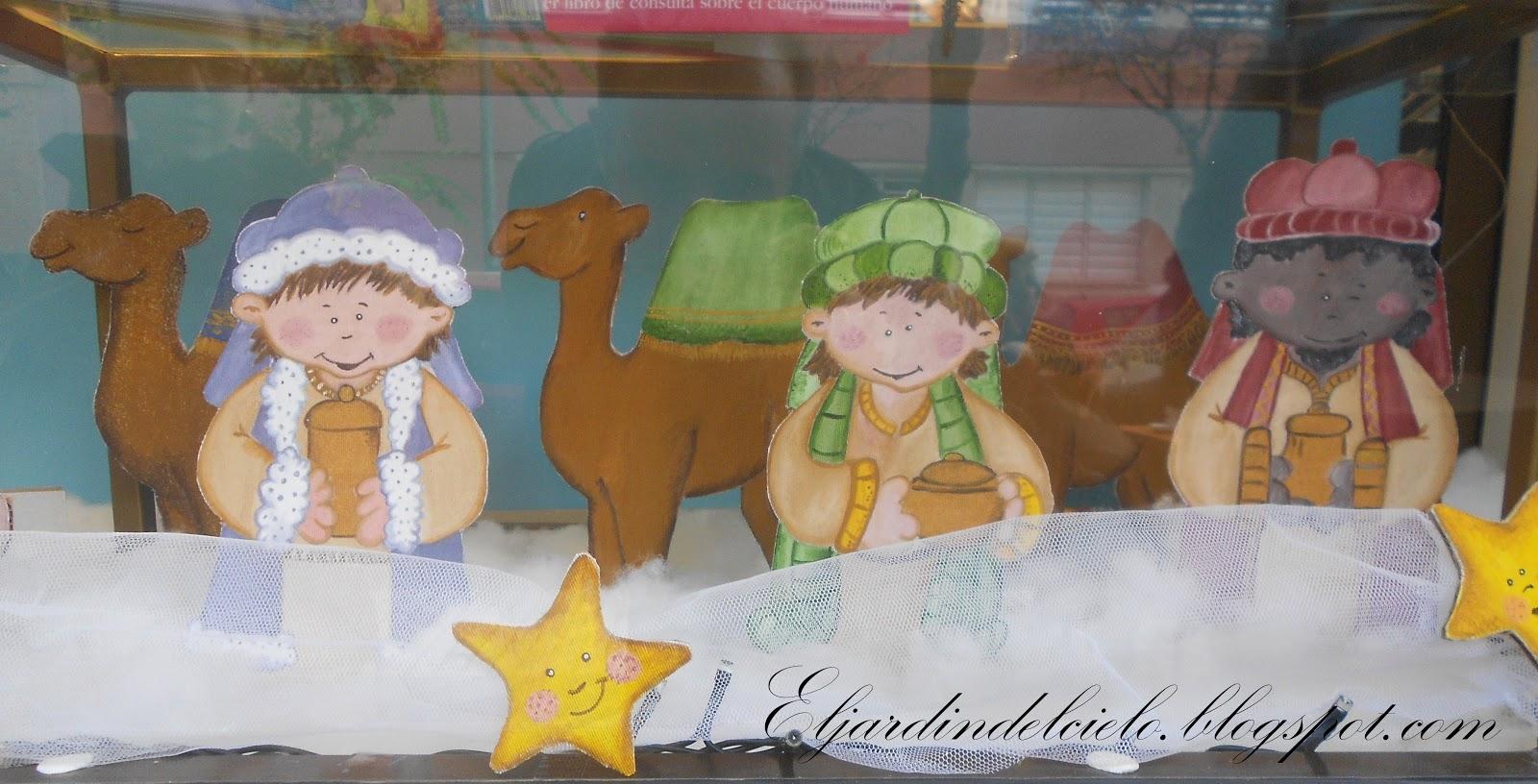 El jard n del cielo bel n pintado en tela - Dibujos navidenos para pintar en tela ...