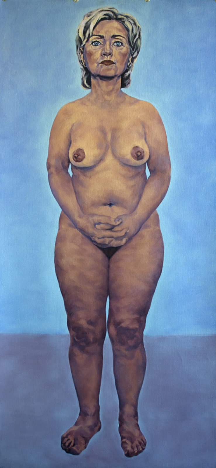 naked. oil on linen, 90