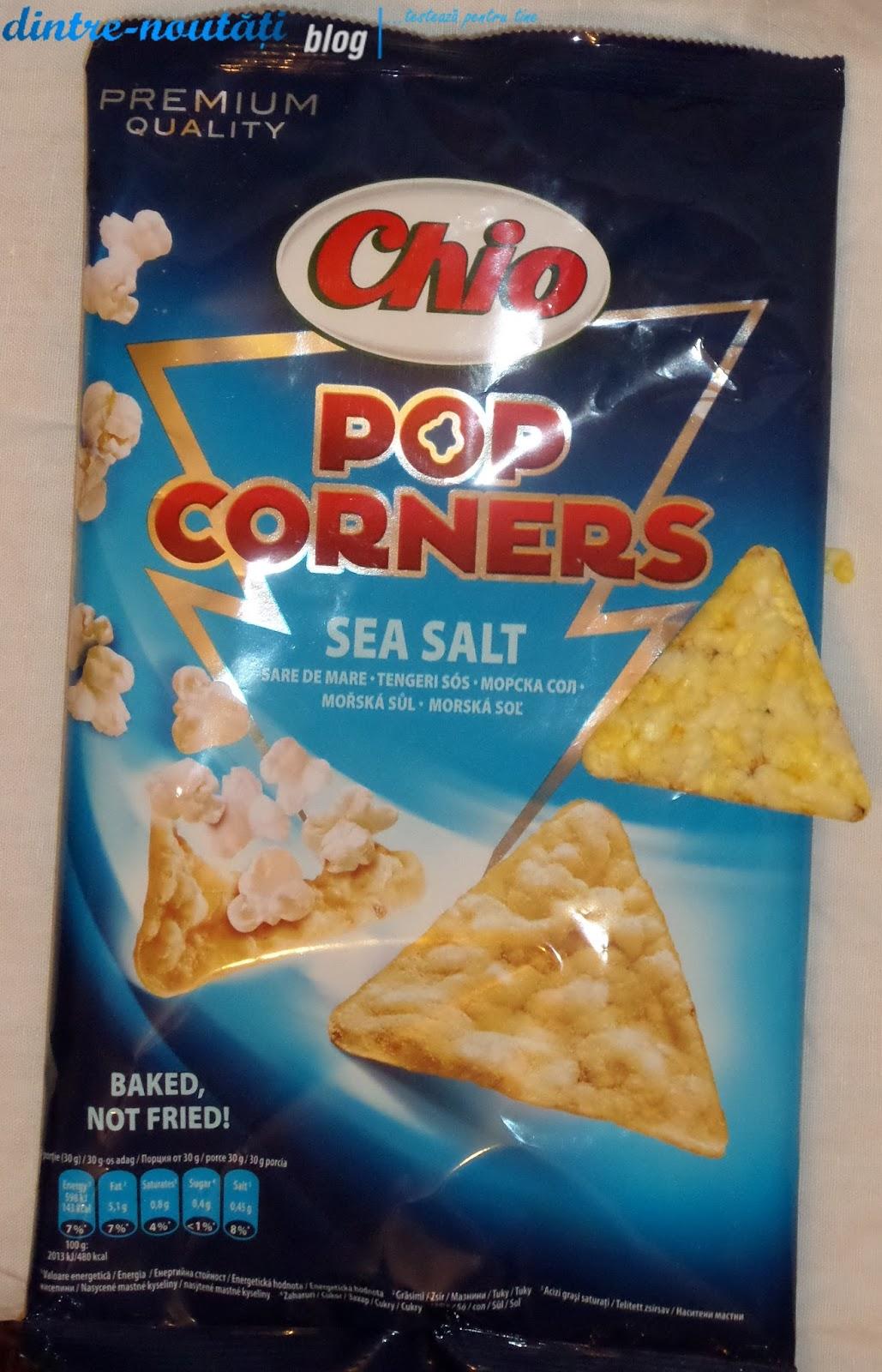Snack expandat din porumb cu sare de mare comparatie sugestie de prezentare