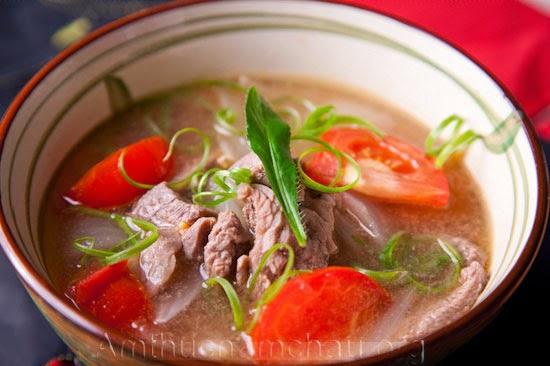 Canh chua thịt bò thơm ngon mát dịu