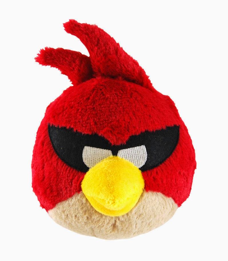Peluche Angry Birds Pájaro Rojo