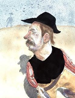 cowboy, gunfighter, illustration