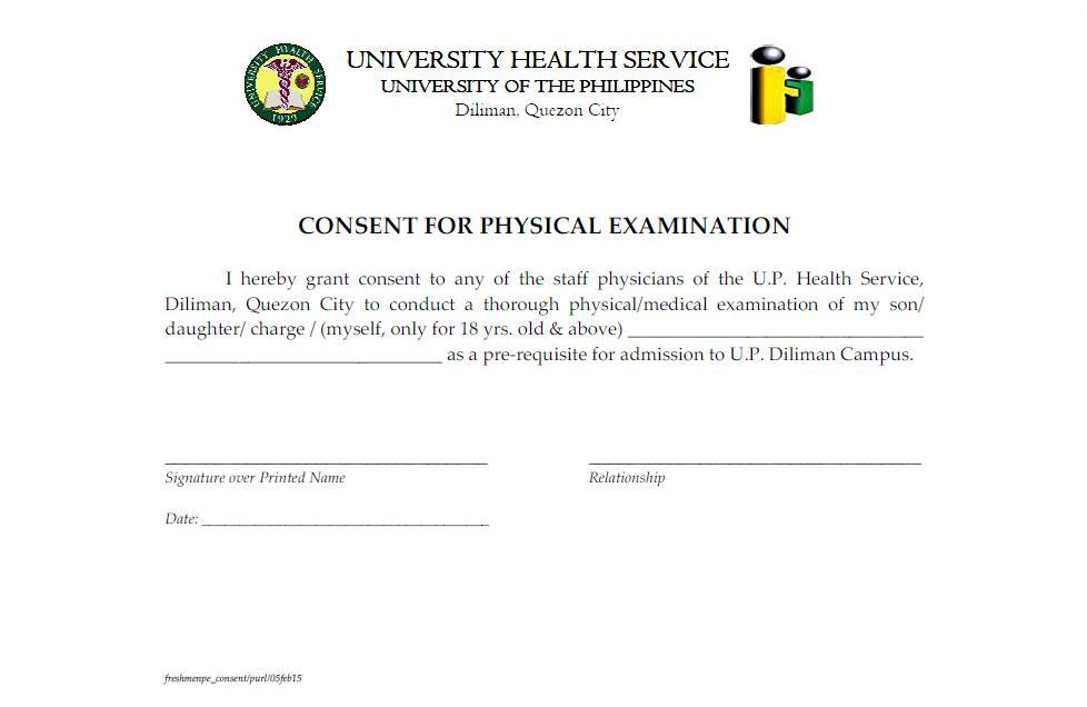 Chill Its Just College Going Oblation UP Diliman Physical – Medical Certificate Form