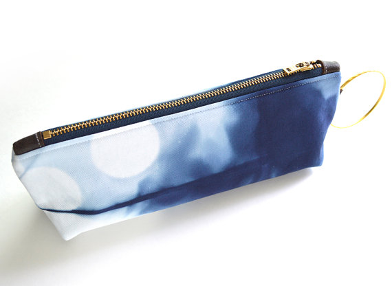inky blue bag