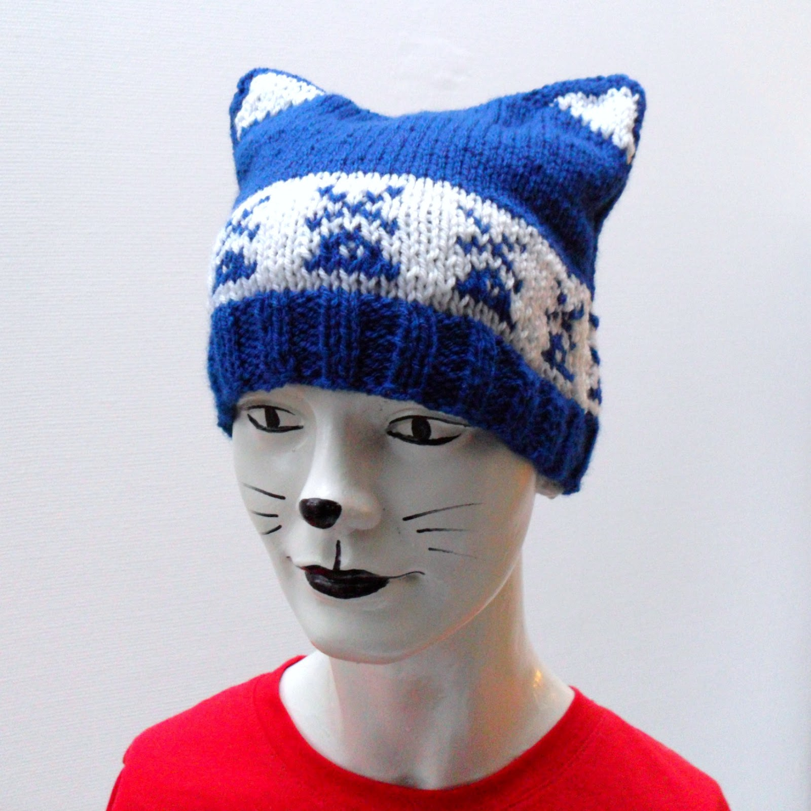 Knitting Pattern For Kitty Hat : Square Cat: super easy kitty hat knitting pattern