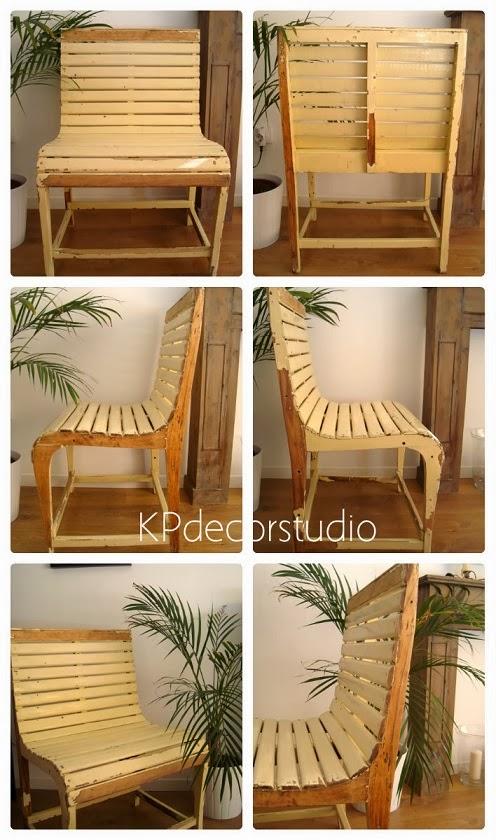 Silla vintage de madera online. Venta de muebles vintage valencia