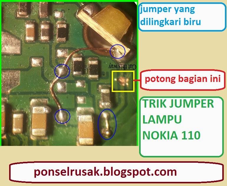 Cara mengatasi kerusakan mati lampiu Nokia 110 beserta penjelasan.