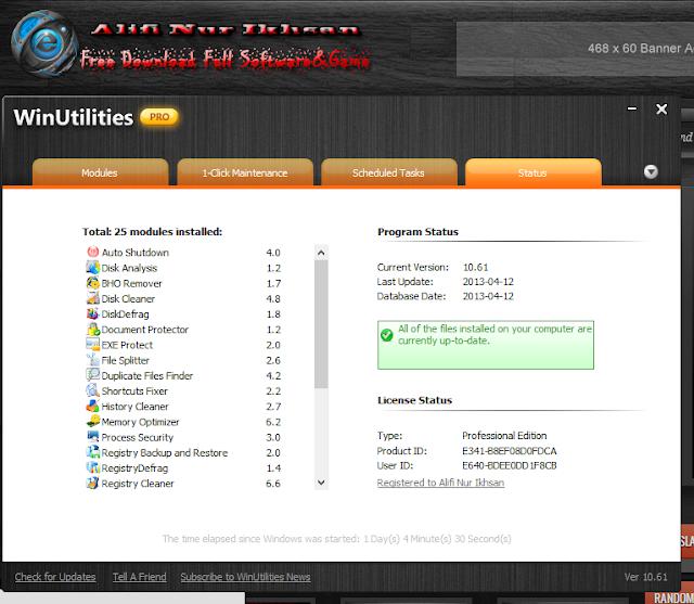 Aplikasi Mengembalikan Data WinUtilities Profesional Edition 10+Keygen