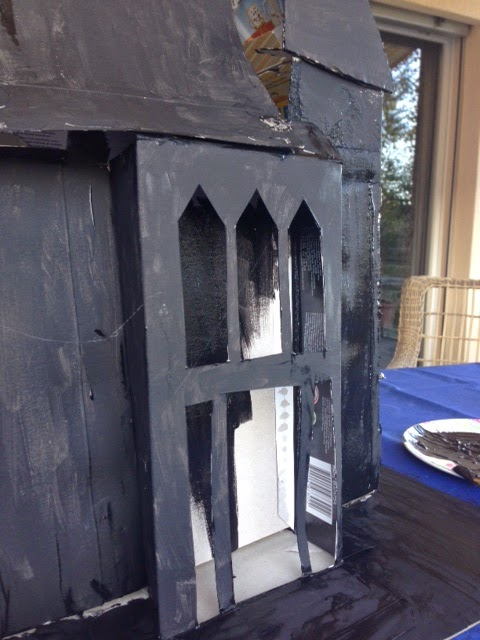 Acorn pies recycled cardboard haunted house for How to make a cardboard haunted house