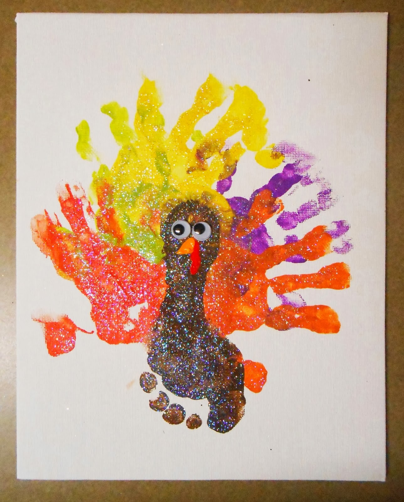 Hands And Feet Turkey Craft Check Out This Adorable And Easy Fall Thanksgiving Craft For The Kids