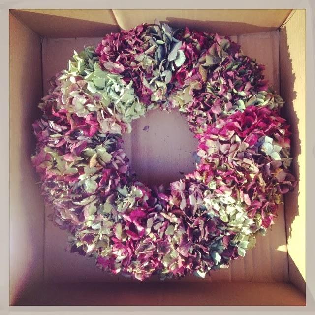 corona de hortensias sally hambleton