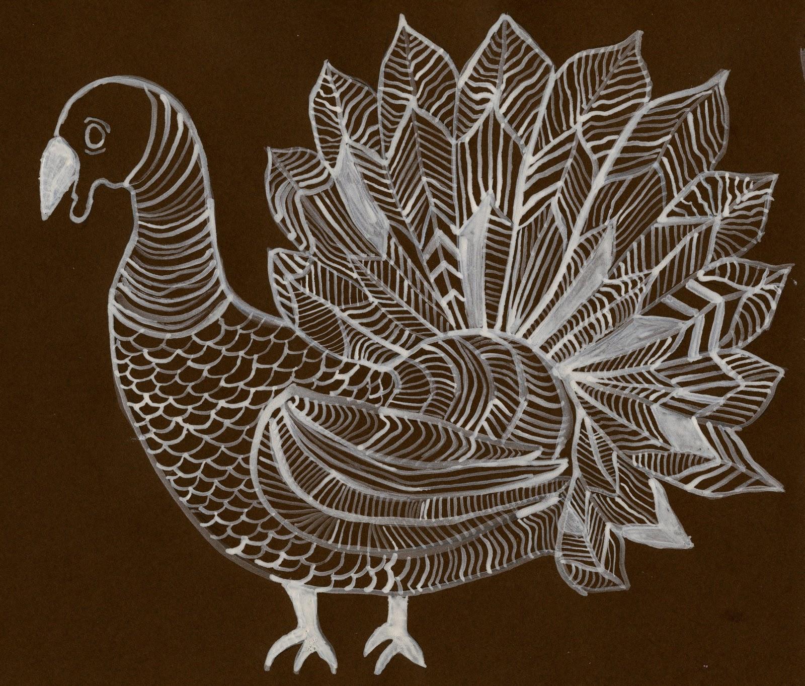 Line Art Projects : That artist woman turkey line drawing